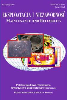 Eksploatacja i Niezawodność = Maintenance and Reliability Nr 4 (36)2007