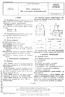 Bloki podporowe dla rurociągów podsadzkowych BN-65/6791-03