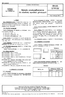 Betonity prostopadłościenne do obudowy wyrobisk górniczych BN-65/6791-06