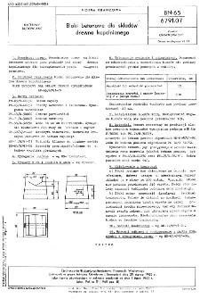 Bloki betonowe dla składów drewna kopalnianego BN-65/6791-07
