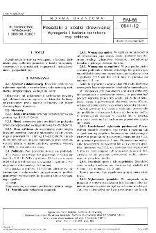 Posadzki z kostki drewnianej - Wymagania i badania techniczne przy odbiorze BN-66/8841-12
