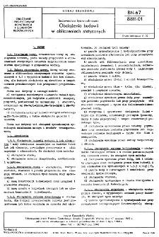 Budownictwo hydrotechniczne - Obciążenia budowli w obliczeniach statycznych BN-67/8811-01