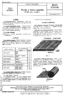 Wyroby z trzciny pospolitej - Podział, nazwy i określenia BN-69/6750-08