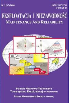 Eksploatacja i Niezawodność = Maintenance and Reliability Nr 1 (37)2008