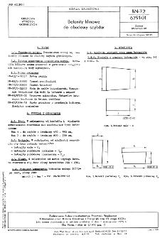 Betonity klinowe do obudowy szybów BN-72/6791-01