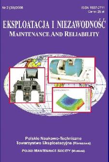 Eksploatacja i Niezawodność = Maintenance and Reliability Nr 2 (38)2008