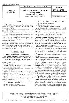 Skalne surowce mineralne - Metody badań - Oznaczanie zawartości tlenku żelazowego (Fe2O3) BN-86/6710-03/26