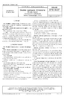 Skalne surowce mineralne - Metody badań - Oznaczanie zawartości tlenku tytanowego (TiO2) BN-86/6710-03/27