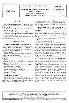 Skalne surowce mineralne - Metody badań - Oznaczanie zawartości tlenku glinowego (Al2O3) BN-86/6710-03/28