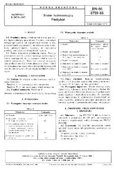 Środek hydroizolacyjny - Pastylon BN-86/6759-06