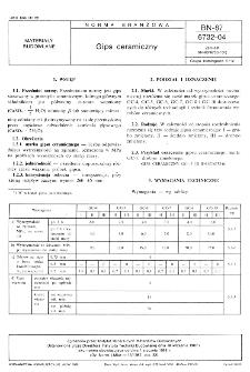 Gips ceramiczny BN-87/6732-04