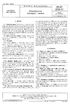 Gipsobetony - Wymagania i badania BN-87/6735-01