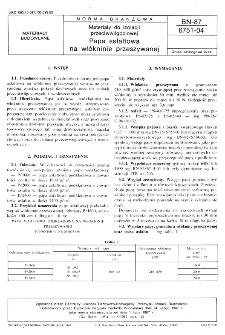 Materiały do izolacji przeciwwilgociowej - Papa asfaltowa na włókninie przeszywanej BN-87/6751-04
