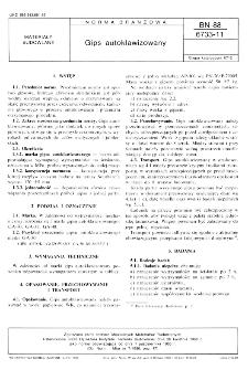 Gips autoklawizowany BN-88/6733-11