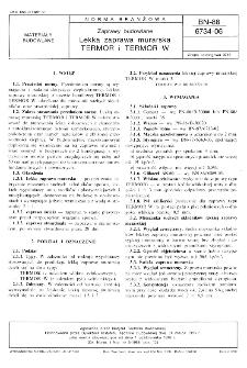 Zaprawy budowlane - Lekka zaprawa murarska TERMOR i TERMOR W BN-88/6734-06
