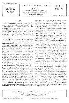 Wapno - Kontrola międzyoperacyjna - Badanie surowców, półproduktu i gotowego wyrobu BN-89/6732-15