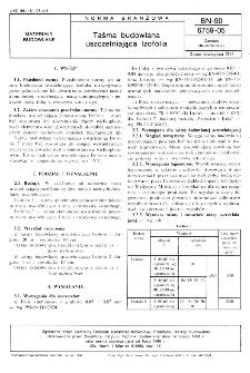 Taśma budowlana uszczelniająca Izofolia BN-90/6759-05