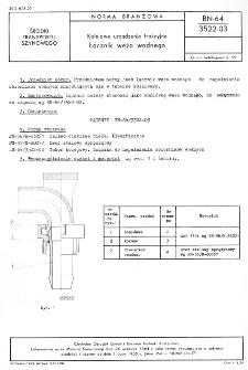 Kolejowe urządzenie trakcyjne - Łącznik węża wodnego BN-64/3522-03
