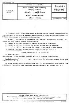 Tabor kolejowy normalnotorowy - Wagony osobowe - Mostki przejściowe międzywagonowe - Główne wymiary BN-64/9312-03