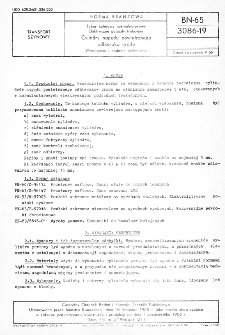 Tabor kolejowy normalnotorowy - Elektryczne pojazdy trakcyjne - Cylindry napędu powietrznego odbieraka prądu - Wymagania i badania techniczne BN-65/3086-19