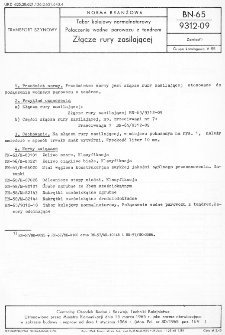 Tabor kolejowy normalnotorowy - Połączenie wodne parowozu z tendrem - Złącze rury zasilającej BN-65/9312-09