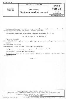 Tabor kolejowy - Pierścienie osadcze sworzni BN-65/9316-03