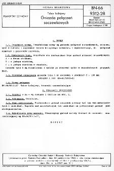 Tabor kolejowy - Gniazda połączeń soczewkowych BN-66/9312-28