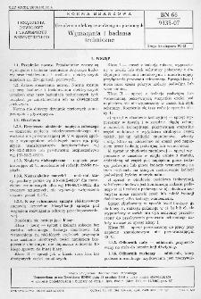 Urzadzenia elektryczne dźwignic portowych - Wymagania i badania techniczne BN-66/9335-07