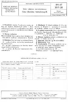Tabor kolejowy normalnotorowy - Kliny klocków hamulcowych BN-67/3517-20