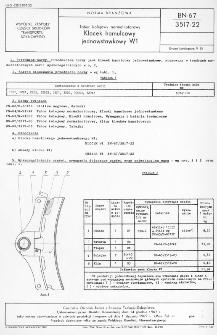 Tabor kolejowy normalnotorowy - Klocek hamulcowy W1 BN-67/3517-22
