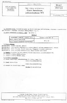 Tabor kolejowy normalnotorowy - Klocki hamulcowe jednowstawkowe W3 BN-67/3517-24