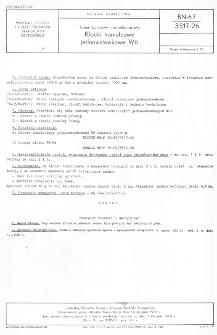 Tabor kolejowy normalnotorowy - Klocki hamulcowe jednowstawkowe W6 BN-67/3517-26