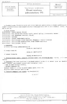Tabor kolejowy normalnotorowy - Klocek hamulcowy jednowstawkowy W8 BN-67/3517-27