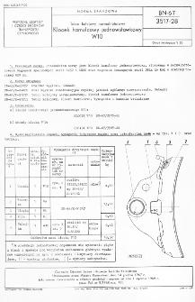 Tabor kolejowy normalnotorowy - Klocek hamulcowy jednowstawkowy W10 BN-67/3517-28