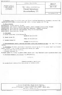Tabor kolejowy normalnotorowy - Klocek hamulcowy dwuwstawkowy D5 BN-67/3517-31