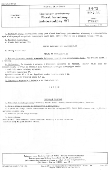 Tabor kolejowy normalnotorowy - Klocek hamulcowy jednowstawkowy W7 BN-73/3517-35