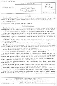 Tabor kolejowy - Spalinowy pojazdy trakcyjne - Skrzynie do akumulatorów - Ogólne wymagania BN-67/3525-01