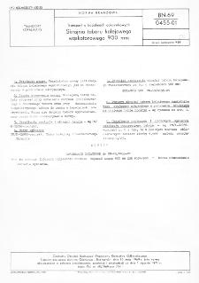 Transport w kopalniach odkrywkowych - Skrajnia taboru kolejowego wąskotorowego 900 mm BN-69/0455-01