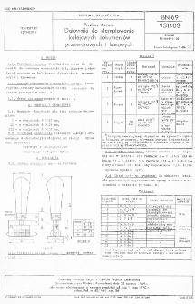 Przybory stacyjne - Datowniki do stemplowania kolejowych dokumentów przewozowych i kasowych BN-69/9311-03