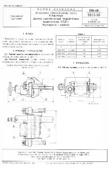 Urządzenia zabezpieczenia ruchu kolejowego - Zamki zwrotnicowe trzpieniowe pojedyncze EEZ-1 - Wymagania i badania BN-90/9315-03