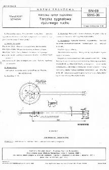 Kolejowy sprzęt sygnałowy - Tarczka sygnałowa dyżurnego ruchu BN-69/9315-05