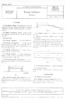 Rampy kolejowe - Wymiary BN-72/9310-04