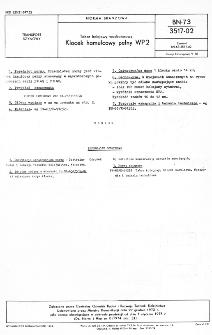 Tabor kolejowy wąskotorowy - Klocek hamulcowy pełny WP2 BN-73/3517-02