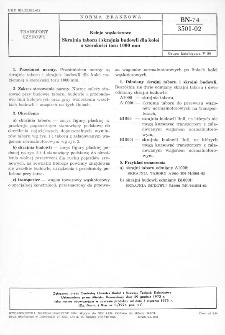Koleje wąskotorowe - Skrajnia taboru i skrajnia budowli dla kolei o szerokośći toru 1000mm BN-74/3501-02