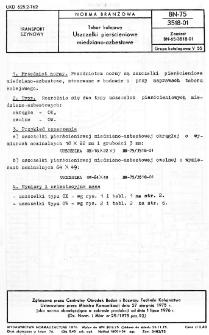 Tabor kolejowy - Uszczelki pierścieniowe miedziano-azbestowe BN-75/3518-01