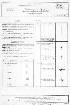 Zabezpieczenie ruchu kolejowego - Symbole graficzne zależności mechanicznych BN-75/9315-13