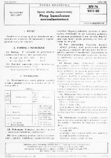 Sprzęt służby manewrowej - Płozy hamulcowe normalnotorowe BN-76/9311-05