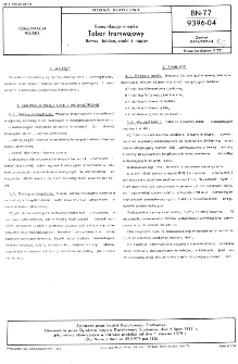 Komunikacja miejska - Tabor tramwajowy - Barwy, tablice, znaki i napisy BN-77/9396-04
