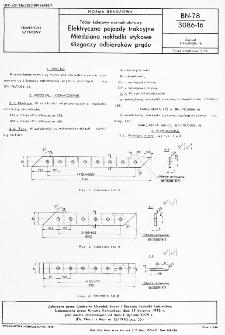 Tabor kolejowy normalnotorowy - Elektryczne pojazdy trakcyjne - Miedziane nakładki stykowe ślizgaczy odbieraków prądu BN-78/3086-16