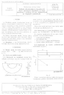Nieniszczące metody badań - Badania ultradźwiękowe doczołowych złączy spawanych zbiorników ze stopu aluminium o grubości 10 mm, zbudowanych na wagonach towarowych BN-78/3518-02 Arkusz 10